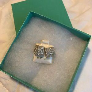 14k Italian square Gold Earring